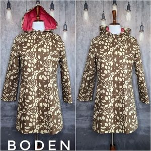 Boden Hooded Rain Jacket/Trench in floral